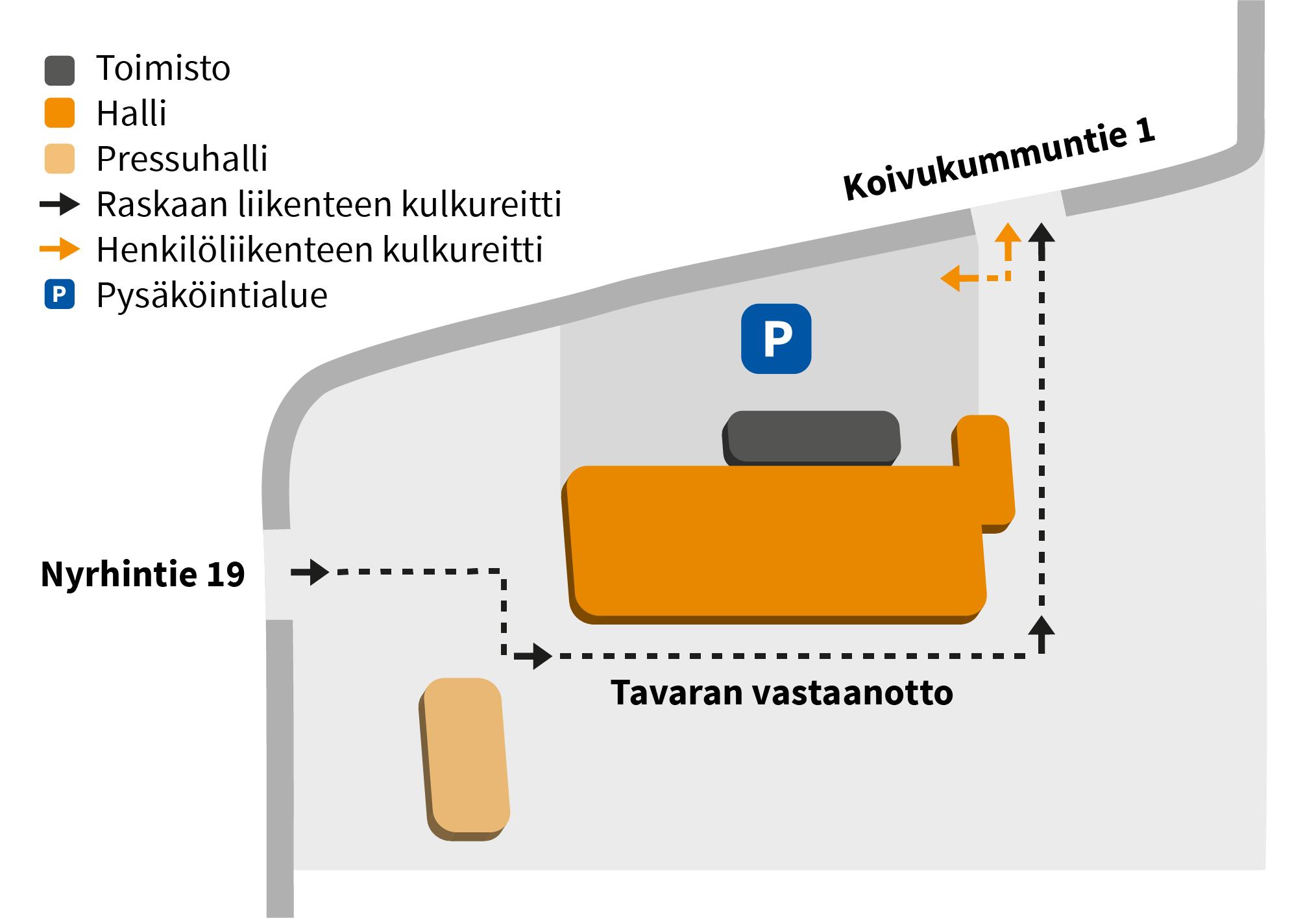 Porin Teollisuusputki - Kartta